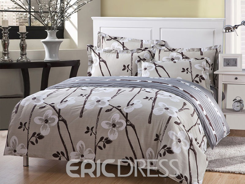 Ericdress Elegant Plum Blossom 4-Piece Bedding Sets 11511059