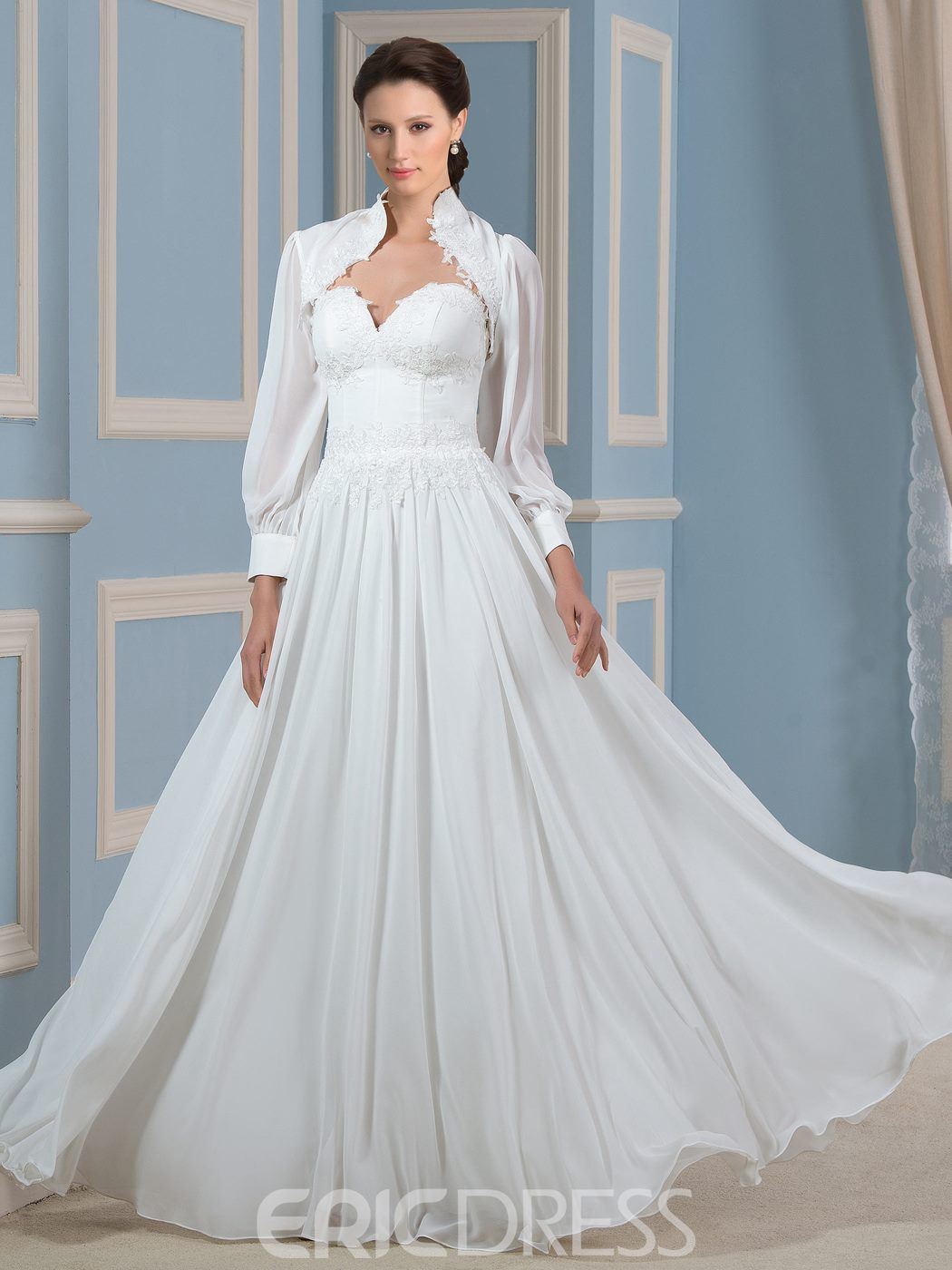 Ericdress Fashionable Sweetheart A Line Chiffon Wedding Dress
