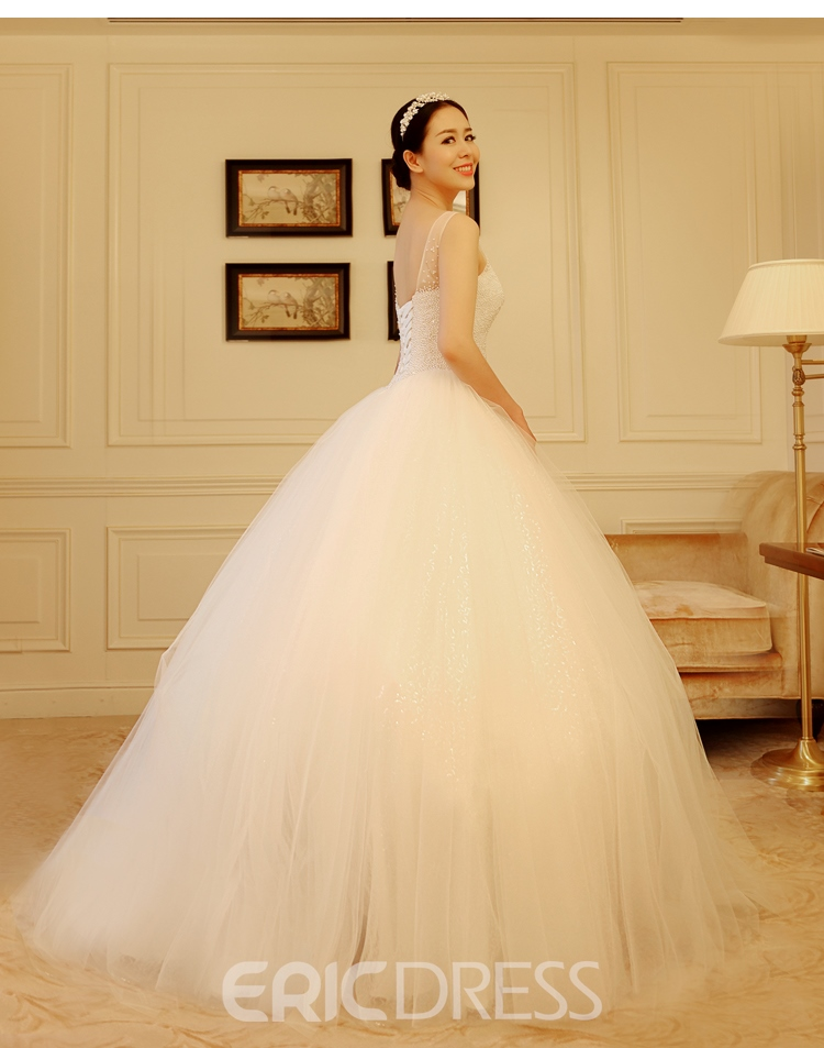 Ericdress Amazing Scoop Pearls Ball Gown Wedding Dress