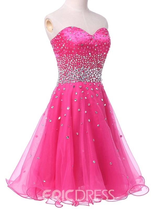 Volants de Ericdress Sweetheart perles robe de Cocktail