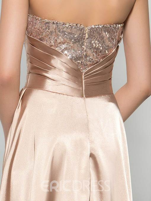 Ericdress Sweetheart Sequins Asymmetry Prom Dress