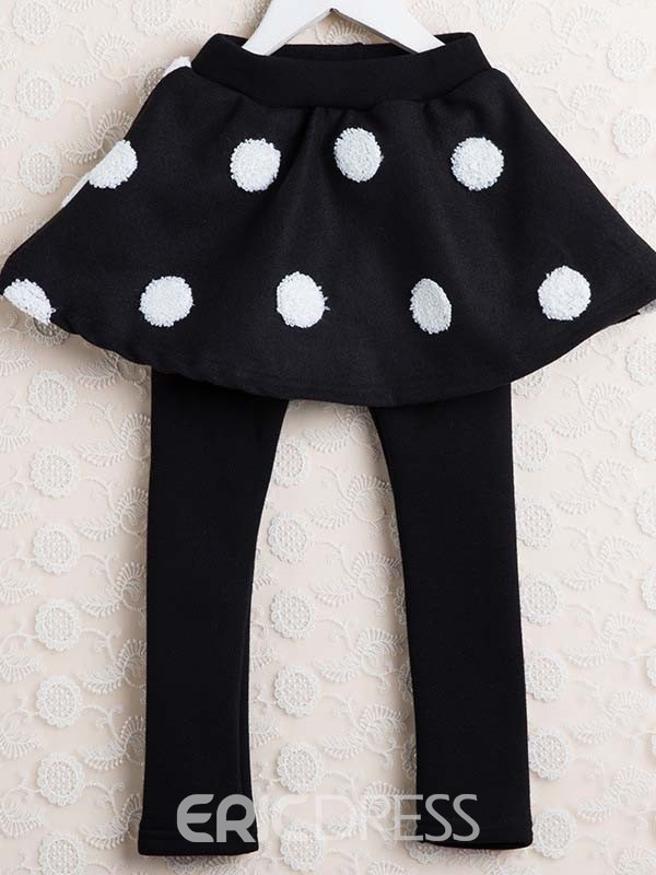 Ericdress Thick Polka Dots Girls Leggings