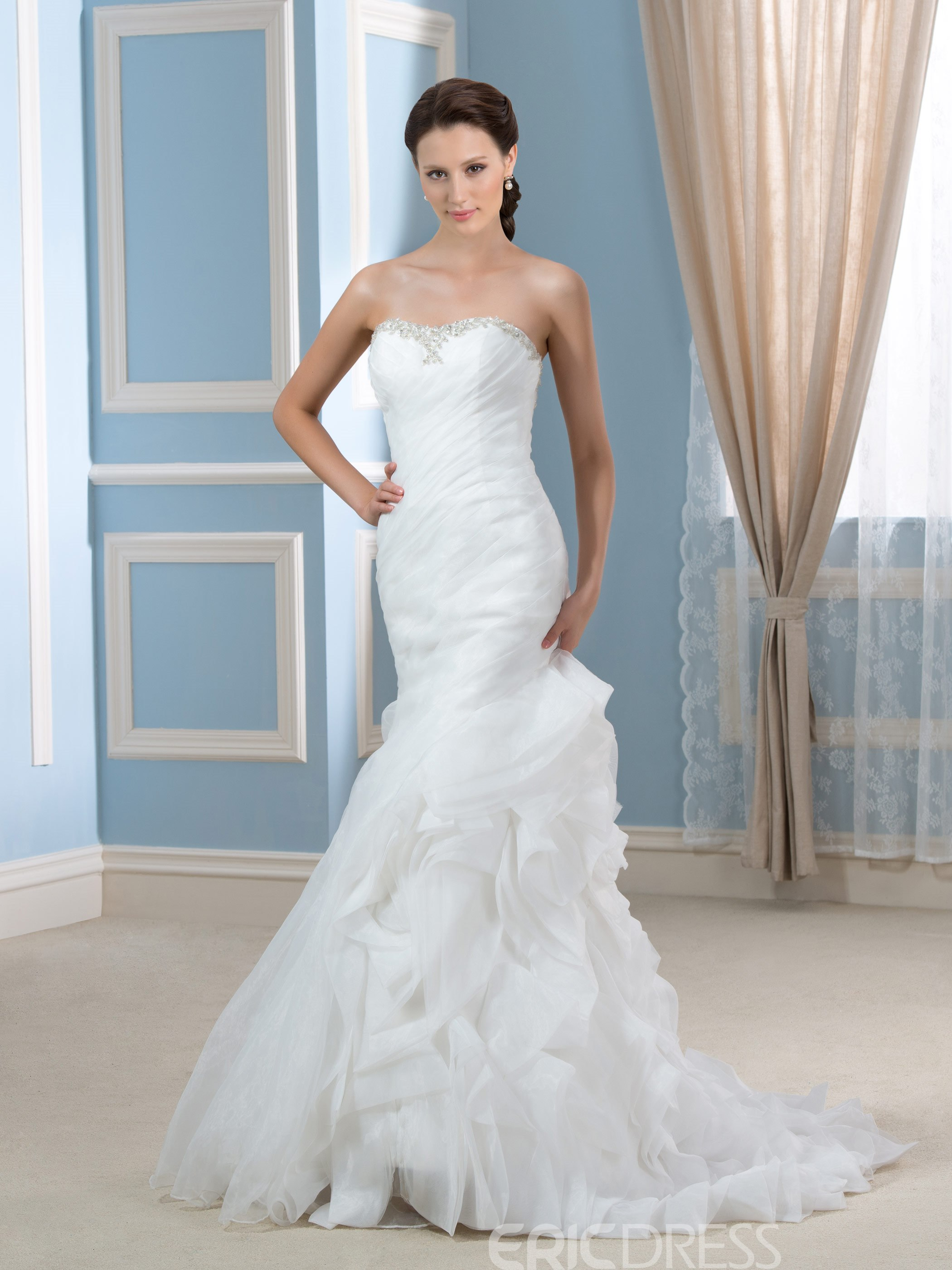 Ericdress Fancy Sweetheart Mermaid Wedding Dress