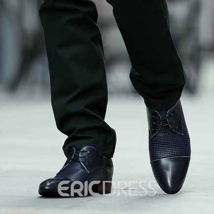 Ericdress Low Heel Round Toe Lace-Up Men's Ankle Boots