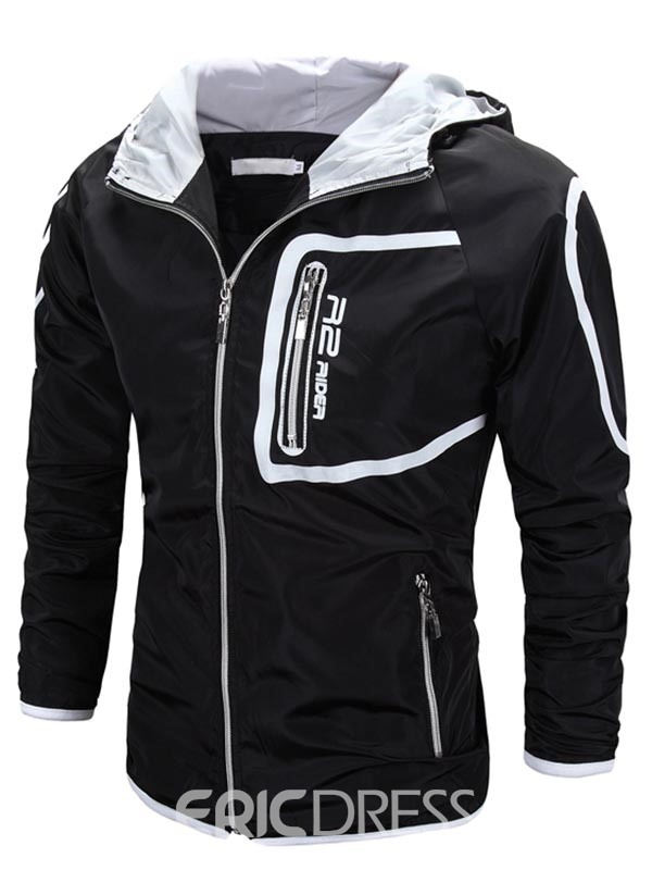 Ericdress Multi-Zip Slim Hooded Casual Men's Jacket
