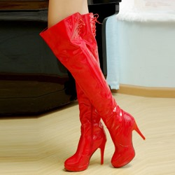 Ericdress Patent Leather Knee High Boots