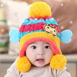 Ericdress Cartoon Bee Fleece Kids Hat