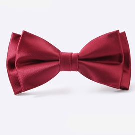 Ericdress Double Layer Wine Red Men's Tie