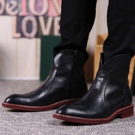 Ericdress Solid Color Men's Boots