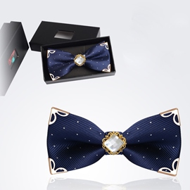 Ericdress High End Double Layer Men's Bow Tie for Wedding
