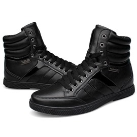 Ericdress Black Lace up Men's Boots