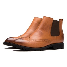 Ericdress Mid-calf Men's Brogues Boots