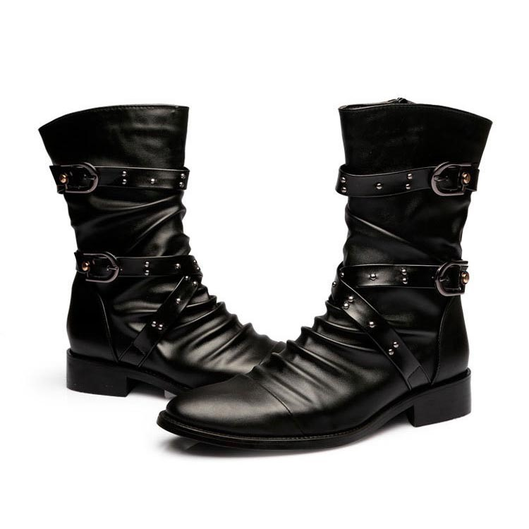 Ericdress Mid Calf Men's Boots with Rivets