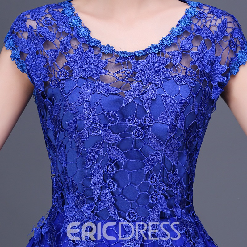 Ericdress A-Line Scoop Lace Short Cocktail Dress