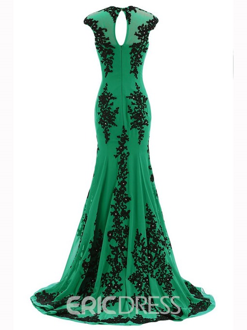 Ericdress Elegant Jewel Appliques Mermaid Mother of the Bride Dress