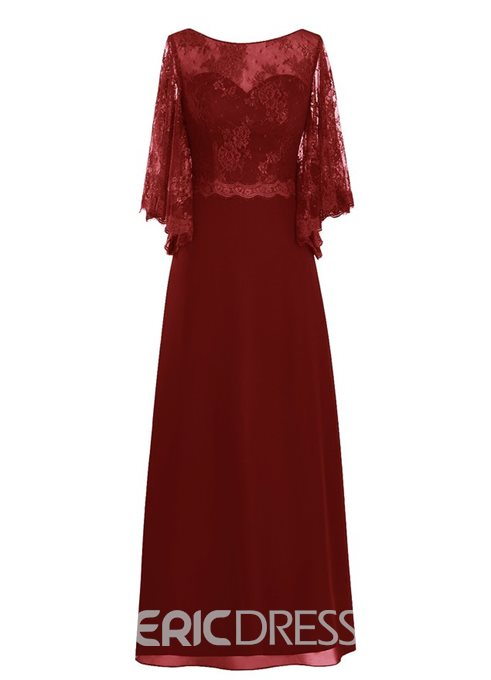 Ericdress Bateau Neck Lace Mother of the Bride Dress