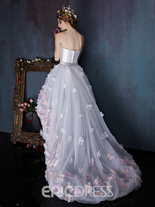 Ericdress Charming Sweetheart Flowers Asymmetry Wedding Dress