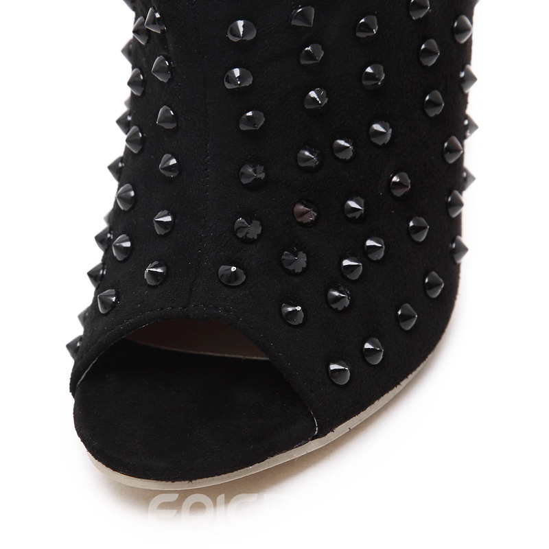 Ericdress Roman High Heel Boots with Rivets