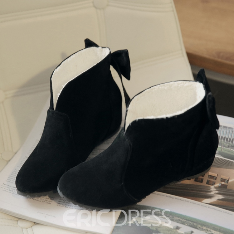 Ericdress Back Bowtie Decoration Ankle Boots