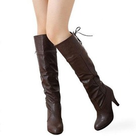 Ericdress Roman Knee High Knight Boots