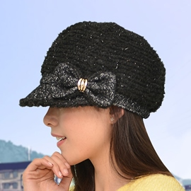 Ericdress Casual Bowknot Octagon Hat