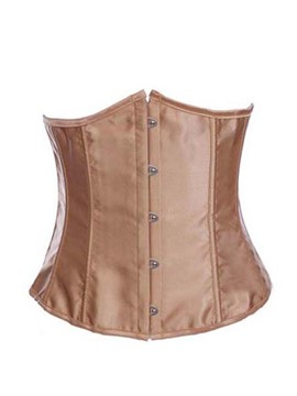 Ericdress Plain Lace Up Waist Training Corset