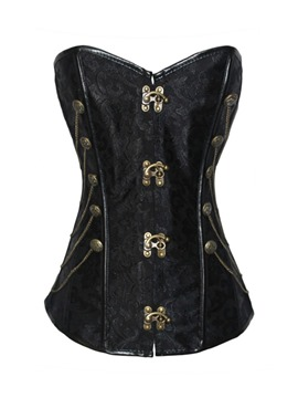 Ericdress Black Overbust Chain Design Corset