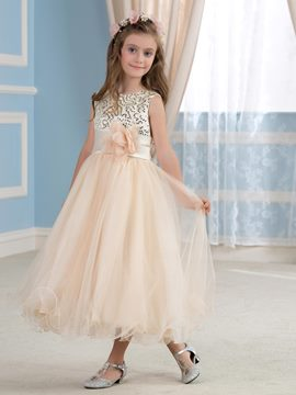 Ericdress Beautiful Sequins Flower Girl Dress