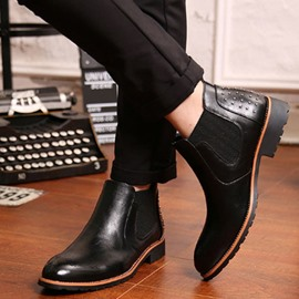 Ericdress Brogue Slip on Men's Martin Boots