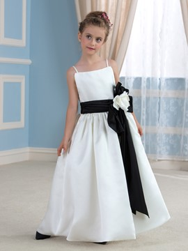 Ericdress Beautiful Spaghetti Straps A Line Flower Girl Dress