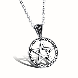 Geometric Pendant Men's Necklace