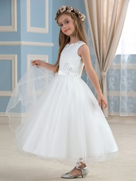 Ericdress Cute Jewel Appliques A Line Flower Girl Dress