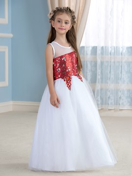 Ericdress Charming Sequins Flower Girl Dress