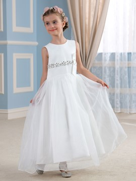 Ericdress Beautiful Beadings A Line Flower Girl Dress