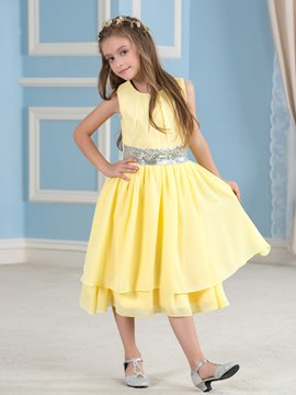 Ericdress Beautiful Chiffon Flower Girl Party Dress