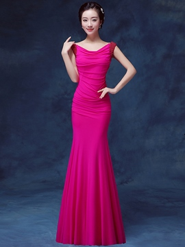 Ericdress Mermaid Beading Pleats Evening Dress