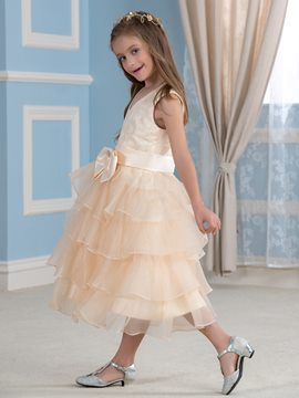 Ericdress Sweet Bowknot Flower Girl Dress