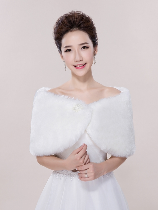 Ericdress Casual Faux Fur Wedding Wrap