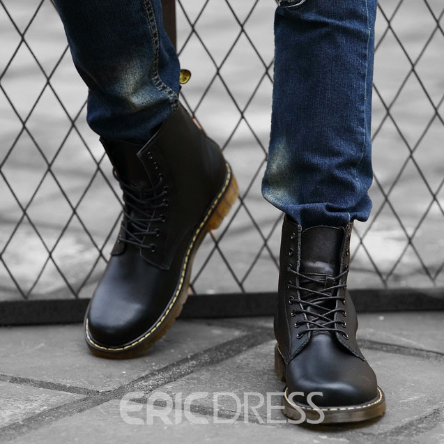 Ericdress Chic Lace up Men's Martin Boots