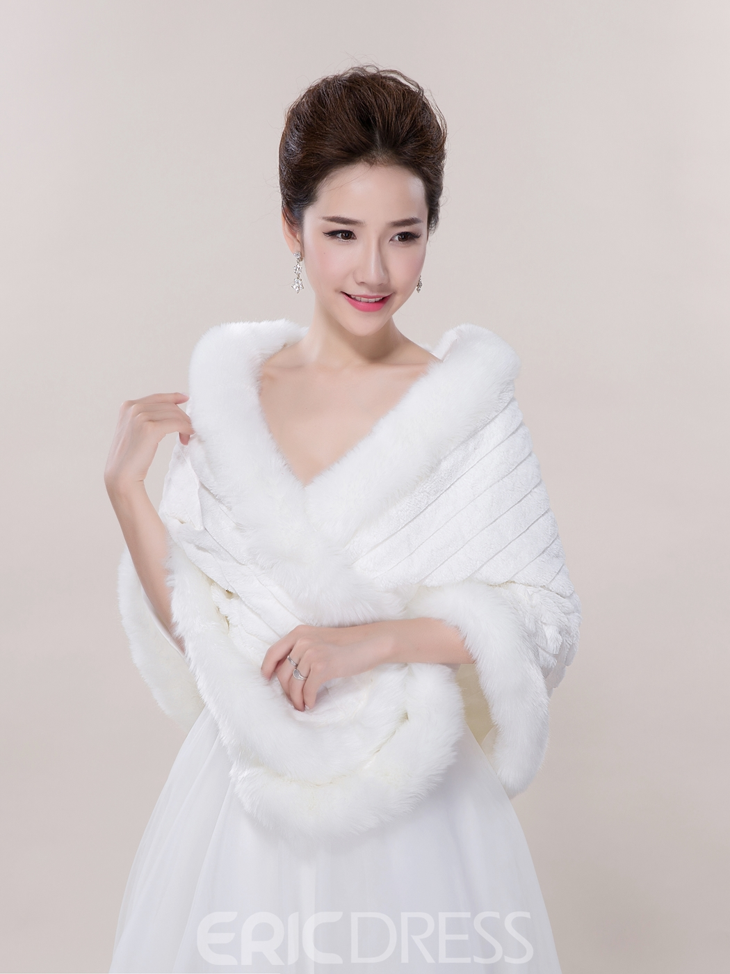 Ericdress Modest Faux Fur Wedding Wrap