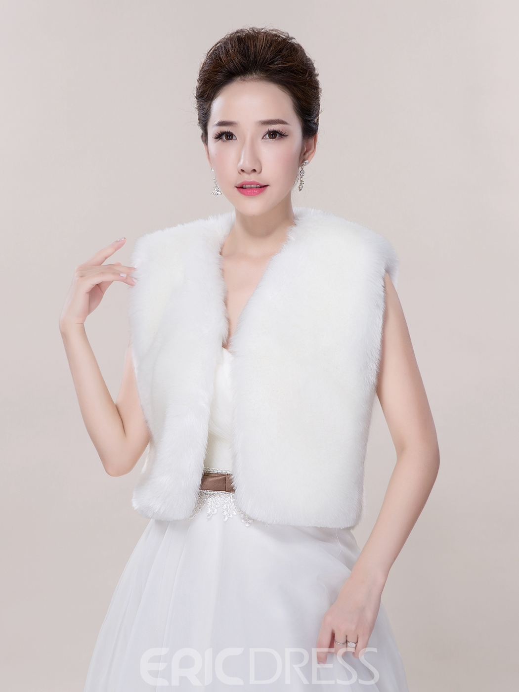 Ericdress Beautiful Faux Fur Wedding Jacket