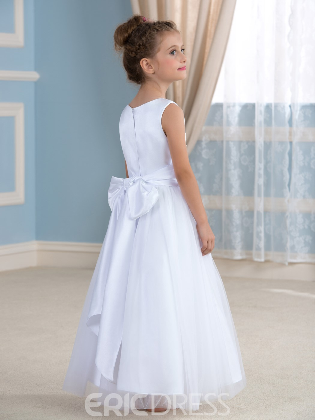 Ericdress Cute Bowknot Flower Girl Dress