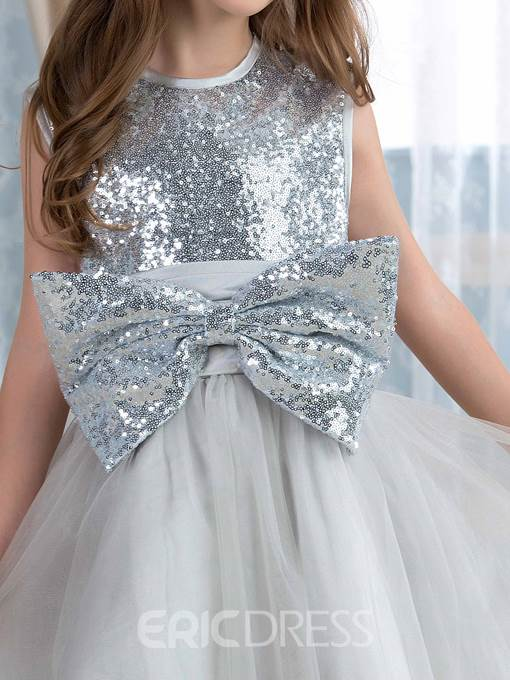 Ericdress Beautiful Sequins Bowknot Flower Girl Dress