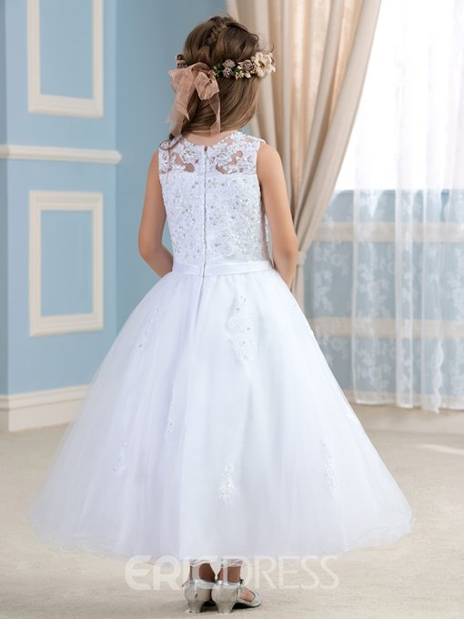 Ericdress Charming Appliques Flower Girl Dress