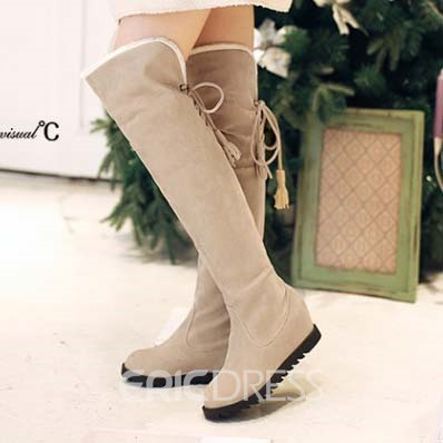 Ericdress Pretty Girl Suede Knee High Boots with Tassels