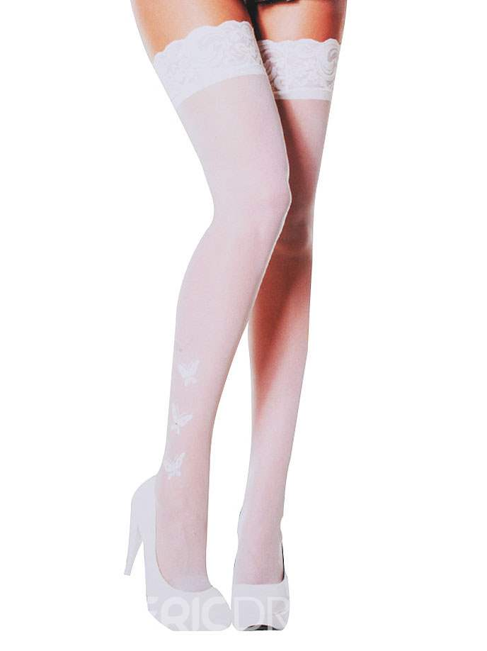 Ericdress Thigh Length Butterfly Stocking