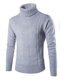 Ericdress Plain Turtleneck Warm Men's Sweater