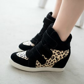 Ericdress Leopard Patchwork Ankle Boots