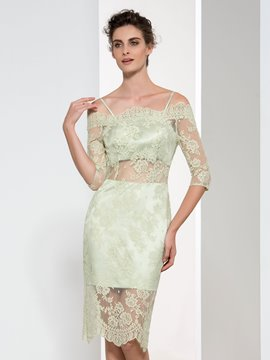 Ericdress Sheath Off-The-Shoulder Lace Cocktail Dress