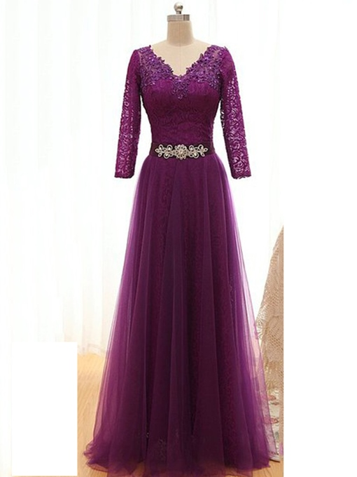 Ericdress Lace Long Sleeves Mother Of The Bride Dress